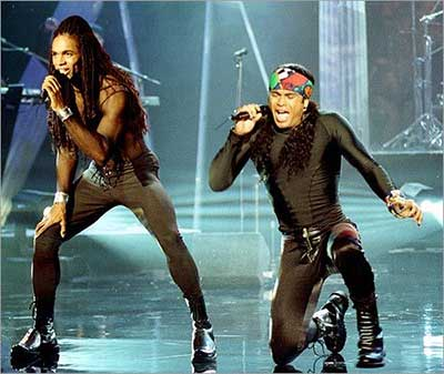 Milli Vanilli: Owners of the tightest trousers in pop, until Razorlight stole their crown