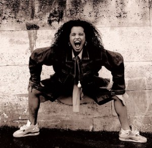 Neneh Cherry might be having another baby in this photo, I'm not sure